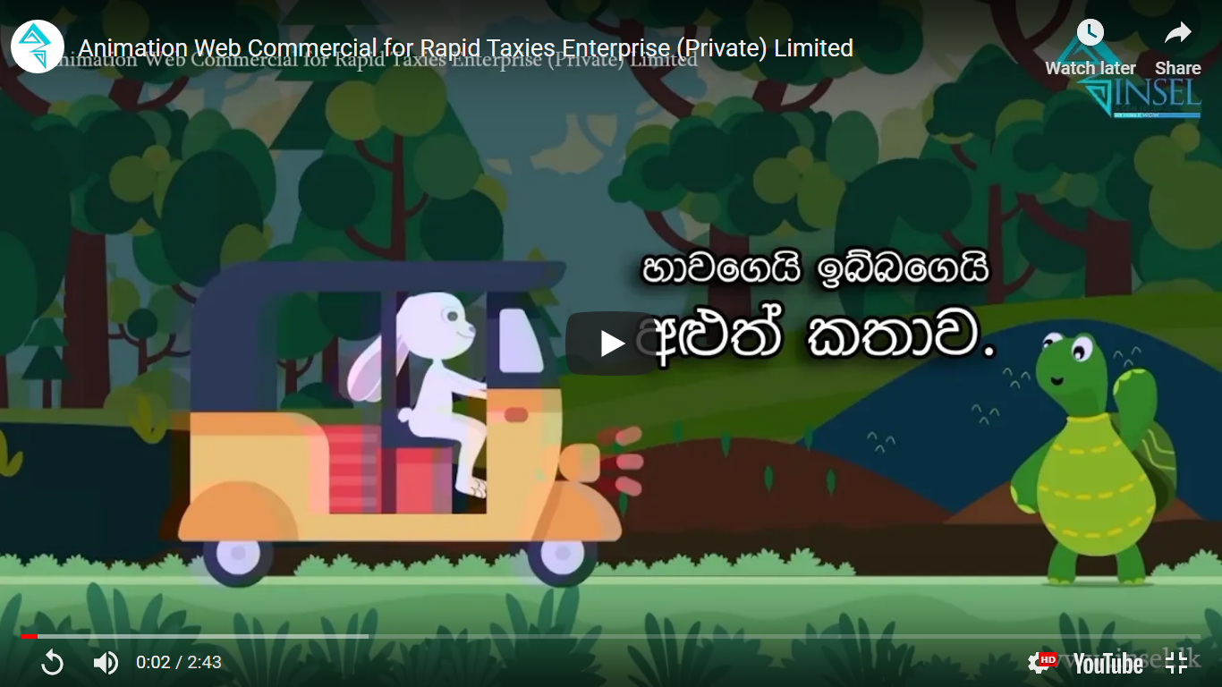 Animation Web Commercial for Rapid Taxies Enterprise (Private) Limited